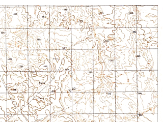 Reduced fragment of topographic map ru--gs--050k--h41-052-4--N030-30_E061-45--N030-20_E062-00