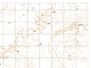 Reduced fragment of topographic map ru--gs--050k--h41-054-4--N030-30_E062-45--N030-20_E063-00