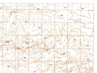 Reduced fragment of topographic map ru--gs--050k--h41-057-4--N030-30_E064-15--N030-20_E064-30