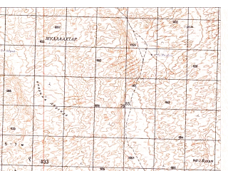 Reduced fragment of topographic map ru--gs--050k--h41-060-4--N030-30_E065-45--N030-20_E066-00