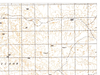 Reduced fragment of topographic map ru--gs--050k--h41-064-4--N030-10_E061-45--N030-00_E062-00