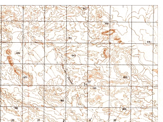 Reduced fragment of topographic map ru--gs--050k--h41-069-1--N030-20_E064-00--N030-10_E064-15