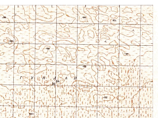 Reduced fragment of topographic map ru--gs--050k--h41-070-3--N030-10_E064-30--N030-00_E064-45