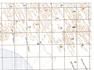 Reduced fragment of topographic map ru--gs--050k--h41-076-3--N029-50_E061-30--N029-40_E061-45