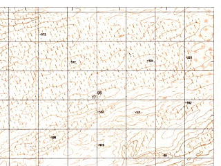 Reduced fragment of topographic map ru--gs--050k--h41-078-2--N030-00_E062-45--N029-50_E063-00