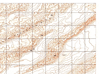 Reduced fragment of topographic map ru--gs--050k--h41-078-3--N029-50_E062-30--N029-40_E062-45