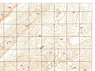 Reduced fragment of topographic map ru--gs--050k--h41-078-4--N029-50_E062-45--N029-40_E063-00