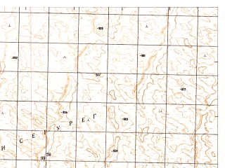 Reduced fragment of topographic map ru--gs--050k--h41-083-4--N029-50_E065-15--N029-40_E065-30