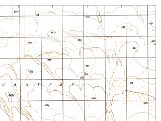 Reduced fragment of topographic map ru--gs--050k--h41-089-1--N029-40_E062-00--N029-30_E062-15