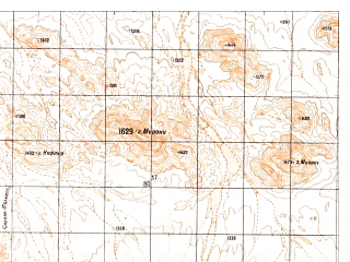 Reduced fragment of topographic map ru--gs--050k--h41-093-1--N029-40_E064-00--N029-30_E064-15