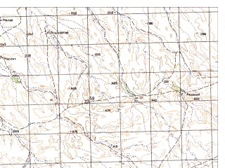 Reduced fragment of topographic map ru--gs--050k--h42-001-4--N031-50_E066-15--N031-40_E066-30