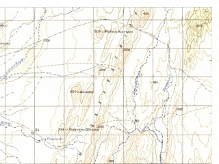 Reduced fragment of topographic map ru--gs--050k--h42-006-4--N031-50_E068-45--N031-40_E069-00