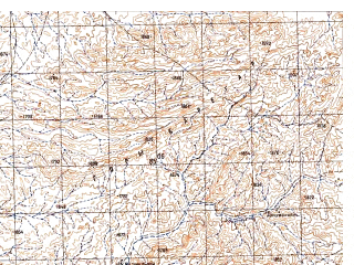 Reduced fragment of topographic map ru--gs--050k--h42-014-4--N031-30_E066-45--N031-20_E067-00