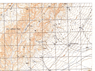 Reduced fragment of topographic map ru--gs--050k--h42-049-4--N030-30_E066-15--N030-20_E066-30