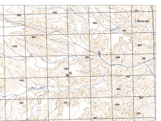 Reduced fragment of topographic map ru--gs--050k--h42-061-4--N030-10_E066-15--N030-00_E066-30
