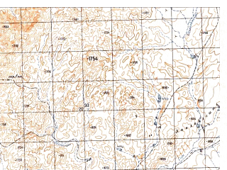 Reduced fragment of topographic map ru--gs--050k--h42-073-1--N030-00_E066-00--N029-50_E066-15