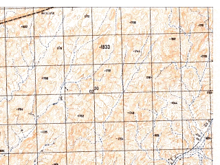 Reduced fragment of topographic map ru--gs--050k--h42-073-3--N029-50_E066-00--N029-40_E066-15