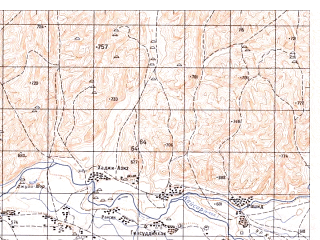 Reduced fragment of topographic map ru--gs--050k--i41-008-3--N035-50_E063-30--N035-40_E063-45
