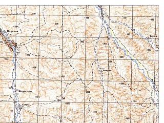 Reduced fragment of topographic map ru--gs--050k--i41-010-3--N035-50_E064-30--N035-40_E064-45