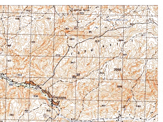Reduced fragment of topographic map ru--gs--050k--i41-011-2--N036-00_E065-15--N035-50_E065-30