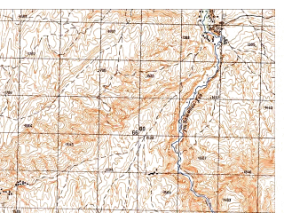 Reduced fragment of topographic map ru--gs--050k--i41-011-3--N035-50_E065-00--N035-40_E065-15