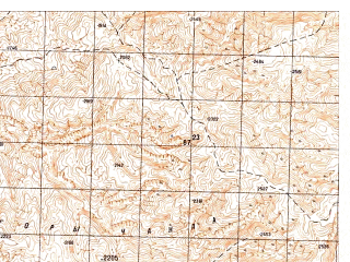 Reduced fragment of topographic map ru--gs--050k--i41-011-4--N035-50_E065-15--N035-40_E065-30