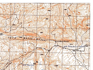 Reduced fragment of topographic map ru--gs--050k--i41-012-1--N036-00_E065-30--N035-50_E065-45