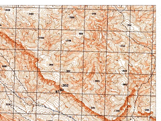 Reduced fragment of topographic map ru--gs--050k--i41-012-4--N035-50_E065-45--N035-40_E066-00