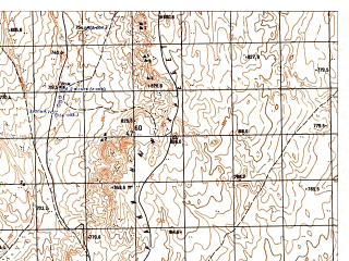 Reduced fragment of topographic map ru--gs--050k--i41-015-2--N035-40_E061-15--N035-30_E061-30