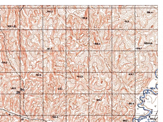 Reduced fragment of topographic map ru--gs--050k--i41-018-4--N035-30_E062-45--N035-20_E063-00