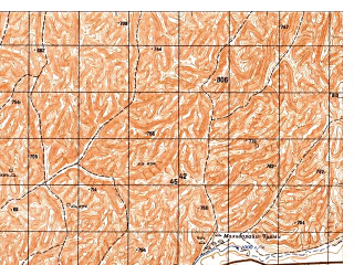 Reduced fragment of topographic map ru--gs--050k--i41-019-2--N035-40_E063-15--N035-30_E063-30