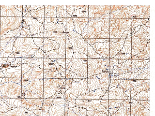 Reduced fragment of topographic map ru--gs--050k--i41-021-2--N035-40_E064-15--N035-30_E064-30