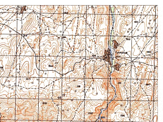 Reduced fragment of topographic map ru--gs--050k--i41-022-2--N035-40_E064-45--N035-30_E065-00