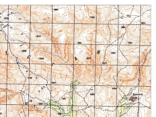 Reduced fragment of topographic map ru--gs--050k--i41-022-4--N035-30_E064-45--N035-20_E065-00