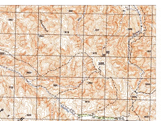 Reduced fragment of topographic map ru--gs--050k--i41-023-3--N035-30_E065-00--N035-20_E065-15
