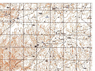 Reduced fragment of topographic map ru--gs--050k--i41-032-4--N035-10_E063-45--N035-00_E064-00