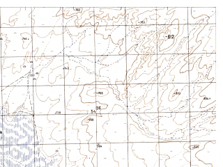Reduced fragment of topographic map ru--gs--050k--i41-039-3--N034-50_E061-00--N034-40_E061-15