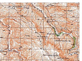 Reduced fragment of topographic map ru--gs--050k--i41-045-1--N035-00_E064-00--N034-50_E064-15