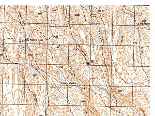 Reduced fragment of topographic map ru--gs--050k--i41-047-4--N034-50_E065-15--N034-40_E065-30