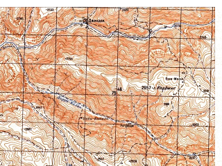 Reduced fragment of topographic map ru--gs--050k--i41-048-1--N035-00_E065-30--N034-50_E065-45