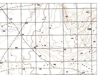 Reduced fragment of topographic map ru--gs--050k--i41-052-1--N034-40_E061-30--N034-30_E061-45