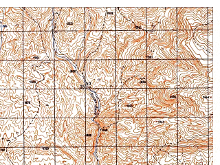 Reduced fragment of topographic map ru--gs--050k--i41-053-2--N034-40_E062-15--N034-30_E062-30