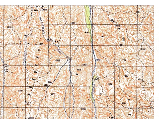 Reduced fragment of topographic map ru--gs--050k--i41-056-1--N034-40_E063-30--N034-30_E063-45