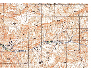 Reduced fragment of topographic map ru--gs--050k--i41-056-2--N034-40_E063-45--N034-30_E064-00