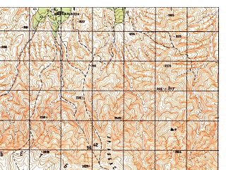 Reduced fragment of topographic map ru--gs--050k--i41-067-2--N034-20_E063-15--N034-10_E063-30