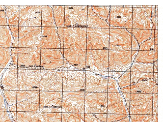 Reduced fragment of topographic map ru--gs--050k--i41-072-1--N034-20_E065-30--N034-10_E065-45