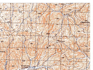 Reduced fragment of topographic map ru--gs--050k--i41-072-2--N034-20_E065-45--N034-10_E066-00