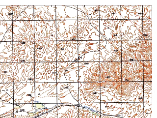 Reduced fragment of topographic map ru--gs--050k--i41-076-4--N033-50_E061-45--N033-40_E062-00