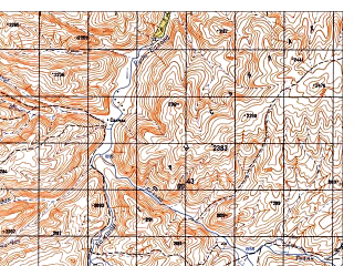 Reduced fragment of topographic map ru--gs--050k--i41-079-2--N034-00_E063-15--N033-50_E063-30