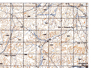 Reduced fragment of topographic map ru--gs--050k--i41-079-3--N033-50_E063-00--N033-40_E063-15